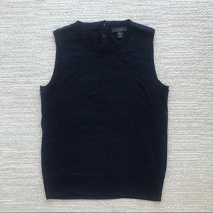J Crew Navy Merino Wool Jackie Vest Knit Tank Top